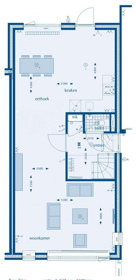 Aalscheer 7, Groene Hof type E1sp